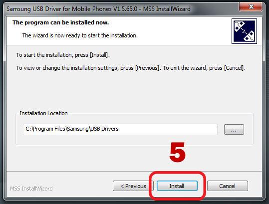 samsung usb driver install wizard 3 location